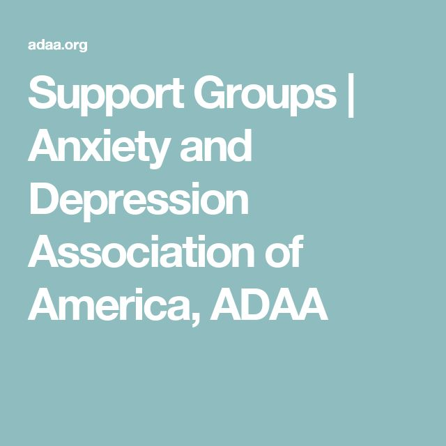 Support Groups | Anxiety and Depression Association of America, ADAA