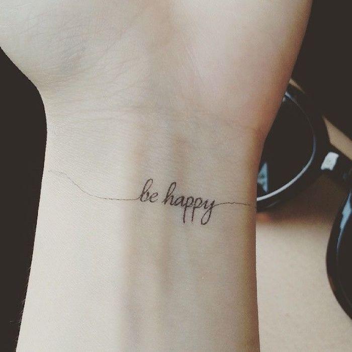 ▷ 52 + tolle Ideen und Bilder zum Thema Tattoo Schriften Handgelenk