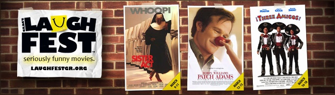 Laughfest: Seriously Funny Movies playing at Celebration Cinema Grand Rapids South to support Gilda's Club