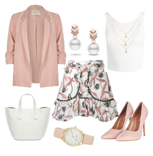 """""""Pretty in pink"""" by kristell-mayorga on Polyvore featuring Isabel Marant, Topshop, Sans Souci, River Island, Escalier and Nine West"""
