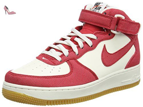 Nike Air Force 1 Mid 07, Chaussures de Basketball Homme, Multicolore (University Red/University Red/Sail//Gum Light), 40.5 EU - Chaussures nike (*Partner-Link)