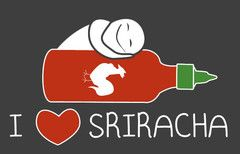 I heart Sriracha shirt. @Darci Yurkovich for Brad