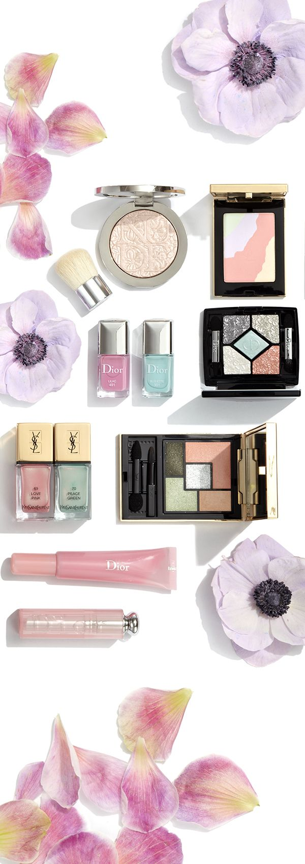 We're catching a little spring fever with these lovely colors from #Dior #YvesSaintLaurent and more #SaksBeauty
