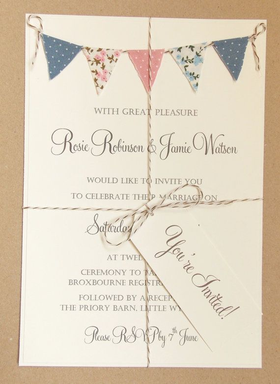 25 Best Ideas About Bunting Invitation On Pinterest