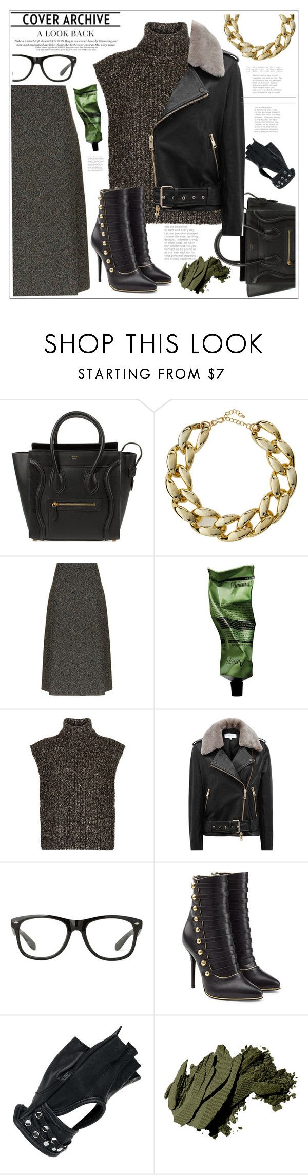 """""""#trend #jackets"""" by katymill ❤ liked on Polyvore featuring CÉLINE, Kenneth Jay Lane, Rosetta Getty, Aesop, Étoile Isabel Marant, Reiss, Balmain, Wilsons Leather and Bobbi Brown Cosmetics"""