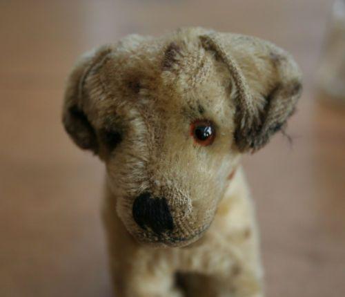 VINTAGE ANTIQUE STEIFF SMALL PUPPY DOG