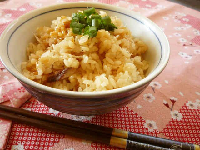 美味しく健康★アジの干物で炊き込みご飯の画像
