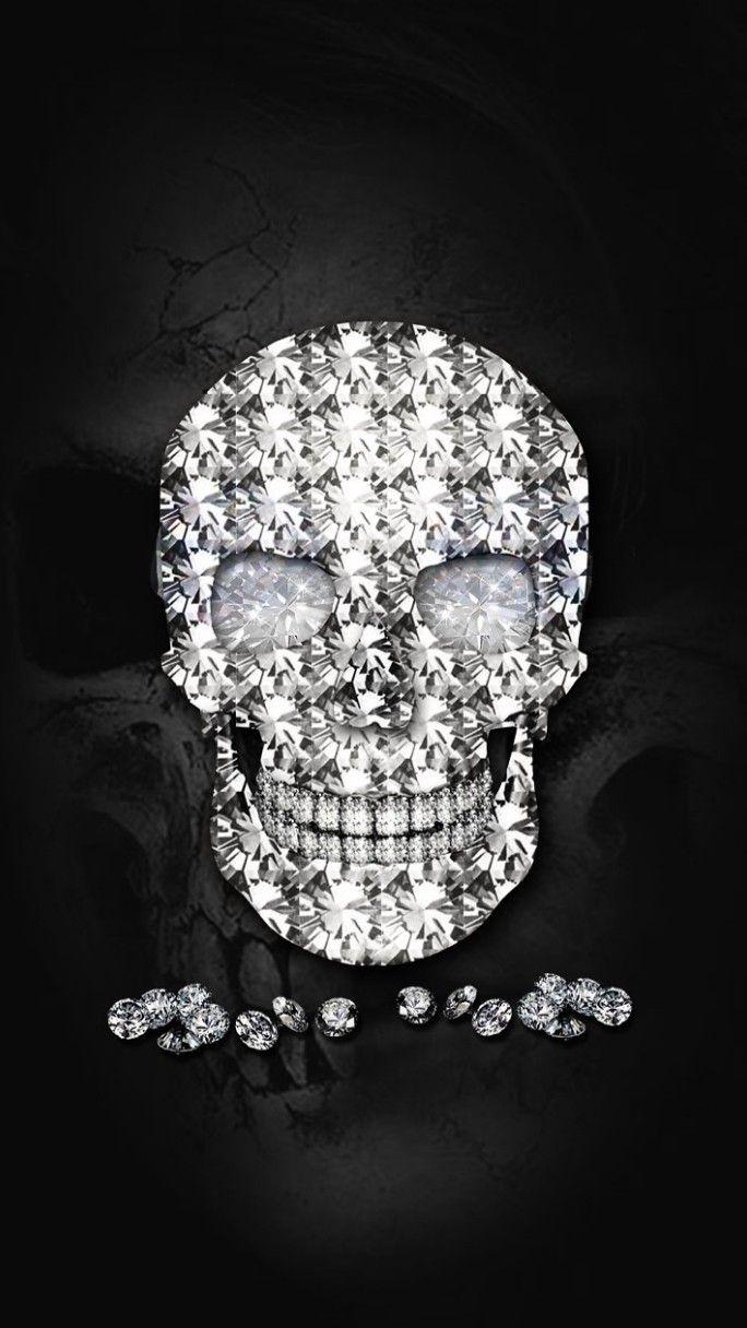 Pin By Angie On Skulls Skull Wallpaper Skull Art Diamond