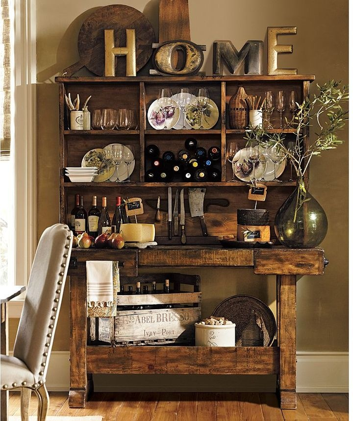 Pottery barn markham hutch i will be placing on top of a