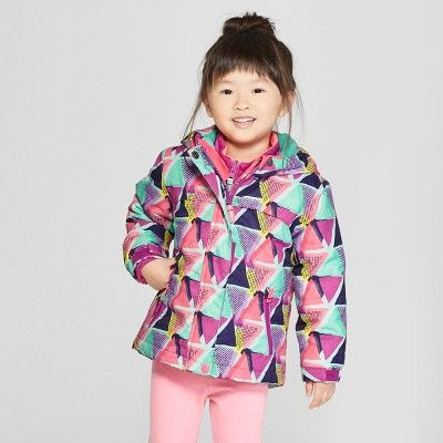 d33e859c2 Toddler Girls' Multi Triangle 3-in-1 Jacket - Cat & Jack™ Purple : Target