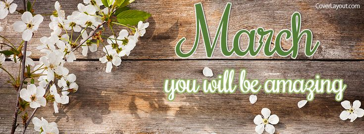 March You Will Be Amazing Facebook Cover coverlayout.com