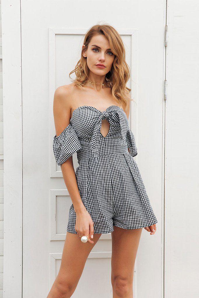 5d20e223dc  Womens  OffShoulder  Summer  Beach  Romper – zorket  trends