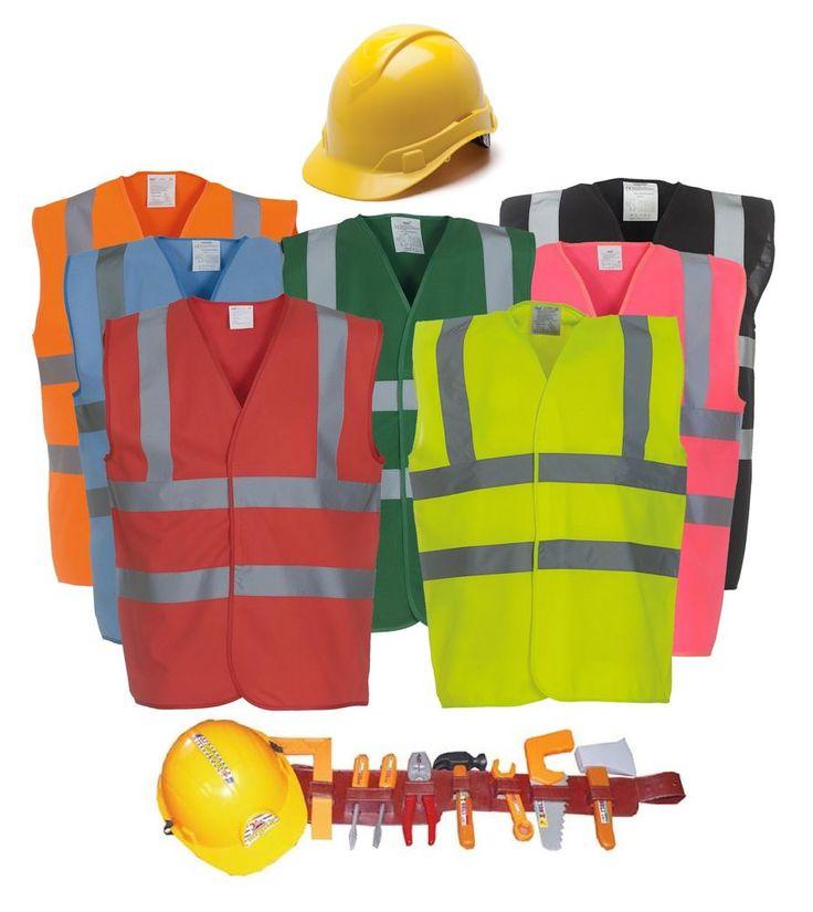 Budget Unisex Construction Worker Builders Fancy Dress Hen Party Costume