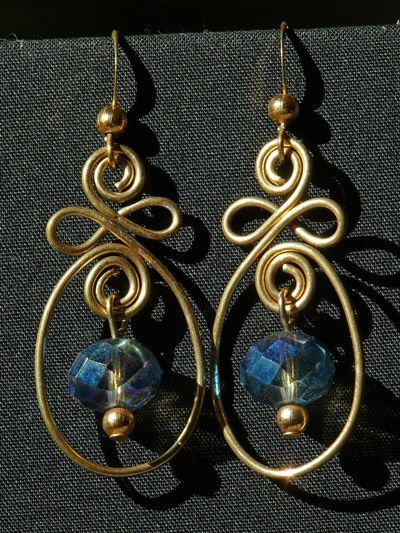 Wire work earrings..can I make this?
