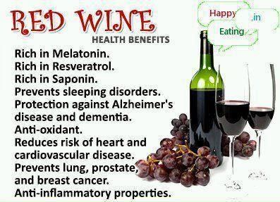 Benefits of Red Wine....SOLD!  You had me at Red Wine : )