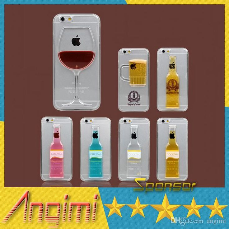 Iphone 6 case red wine glass beer cocktail moving liquid for Case 3d online
