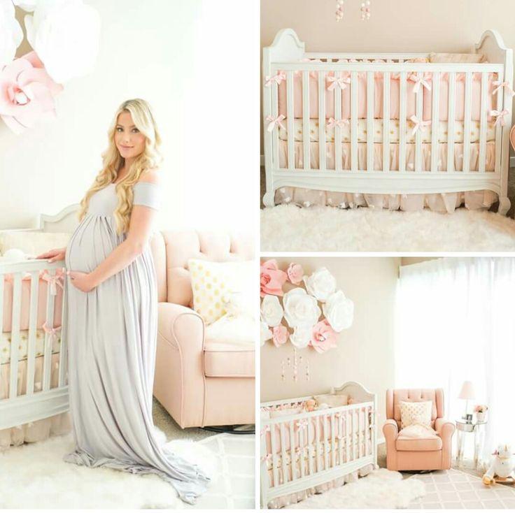 Light pink and tan girls nursery