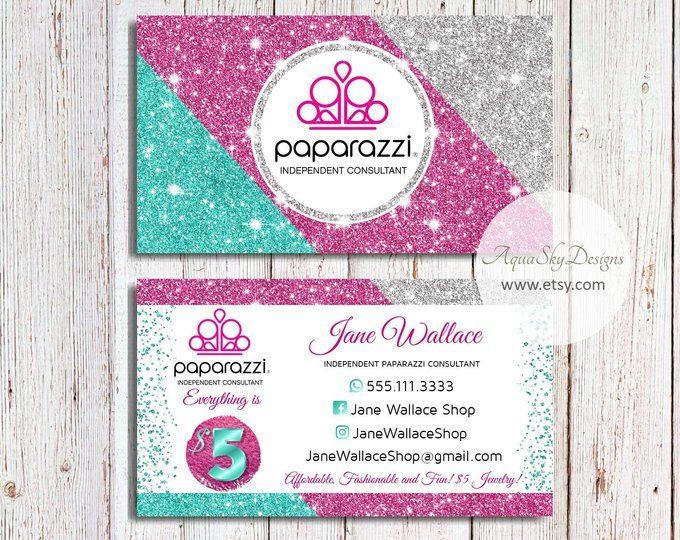 paparazzi business cards pink vistaprint paparazzi