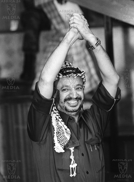 MIDDLE EAST, PALESTINE - Yasser Arafat, President of Palestine Liberation Organization (PLO). Born in 1929 in Jerusalem was educated in Cairo co-founder of Al-Fatah 1956.