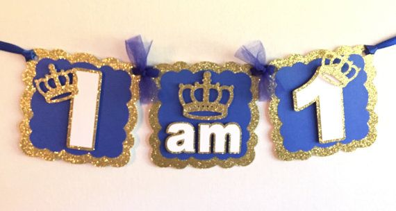 Little Prince I am 1 Banner I am 1 High Chair by DM3PartyDesigns