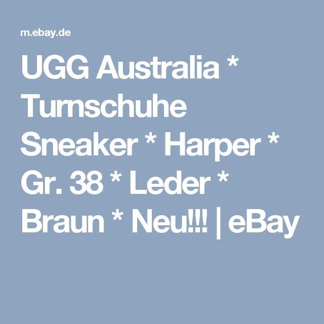 UGG Australia * Turnschuhe Sneaker * Harper * Gr. 38 * Leder * Braun * Neu!!!   | eBay