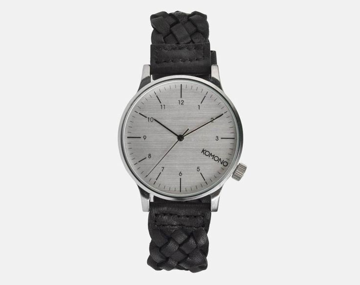 Gentlemen, meet the Komono Winsto Woven watch, the watch that should be your go-to watch for an off-duty day. The stainless steel case and the woven black leather make this watch look casual and st...