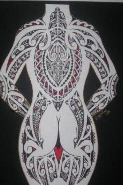 corps plein conceptions de tatouage polynésien