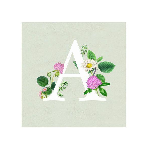 Een bloemenprint - brief afdrukken - Letters Monogram - alfabet door FiammettaDogi op Etsy https://www.etsy.com/nl/listing/246282933/een-bloemenprint-brief-afdrukken-letters