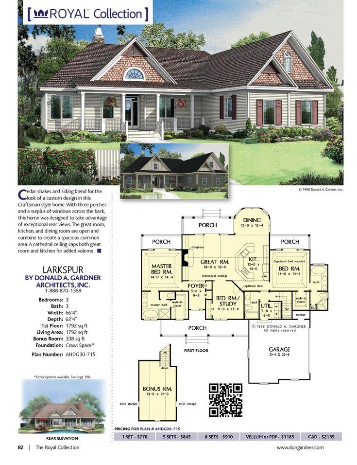 43 best house plans under 1800 sq. ft. images on pinterest | dream