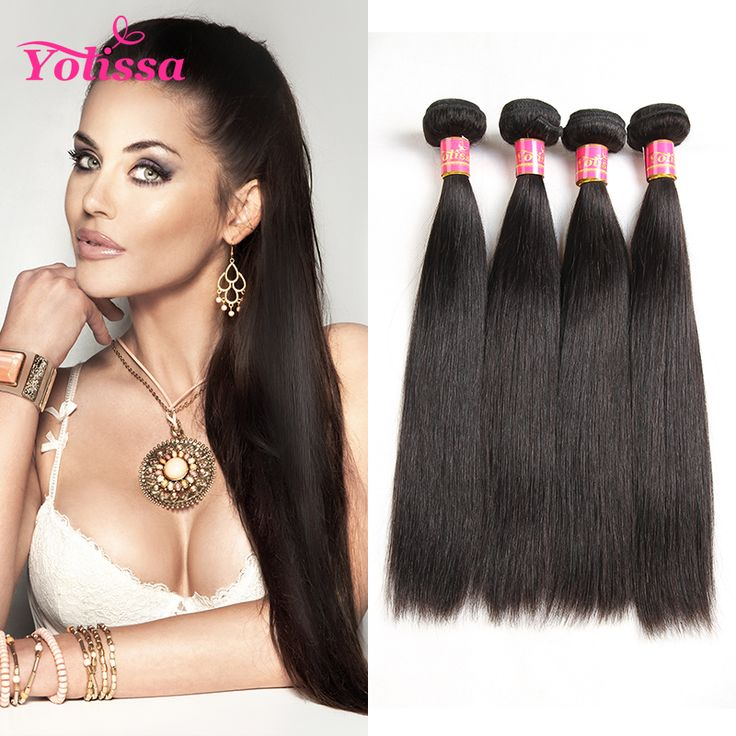Yolissa Hair Human Hair Bundles Brazilian Straight Hair Weave 1 Piece Only Natural Black Hair Weave Free Shipping, Top quality, cheap price.