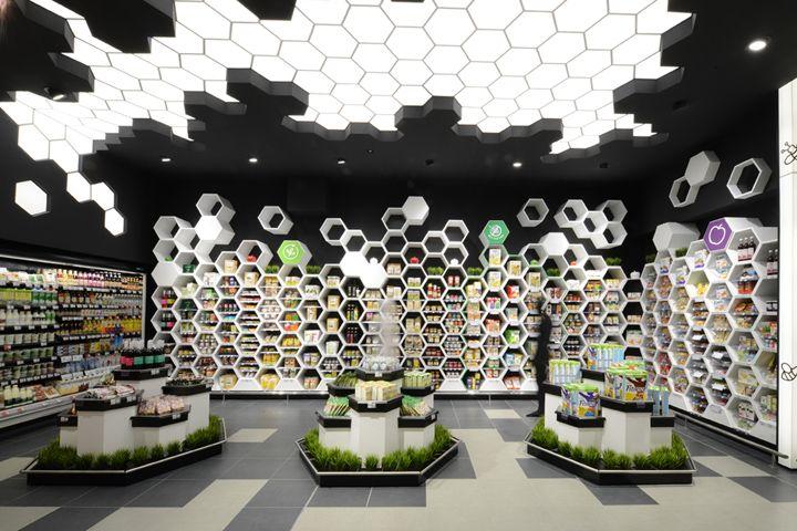 Дизайн супермаркета с элементами экостиля