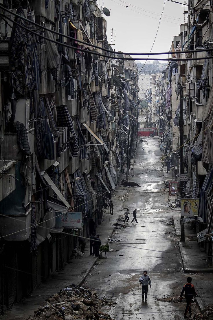Aleppo, Syria. Death & distraction by air bombing by Syrian jets for the past 1000 days