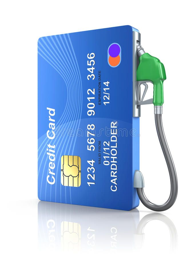 Credit Card With Gas Nozzle Over White Reflective Background Sponsored Gas Card Credit Nozzle B Credit Card Design Credit Card Images Credit Card