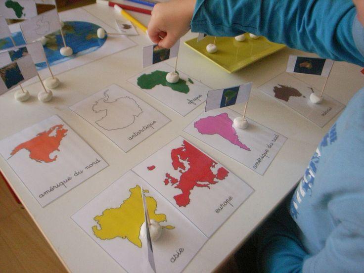 Les Montessouris: Globe et planisphère Montessori