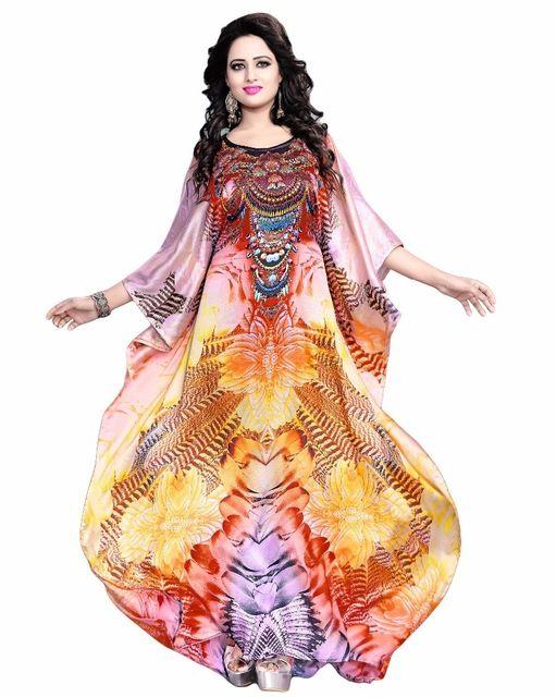 Source Women's MultiColour Straight Ankle Length Daily Wear Kurta / Daily Wear Casual 3D Digital Printed Kaftan (kaftans 2017) on m.alibaba.com