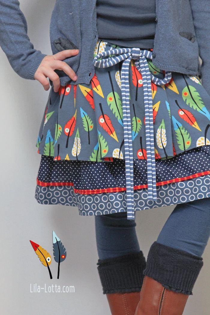 Love how she has made this skirt. #sew #SewforGirls inspiration