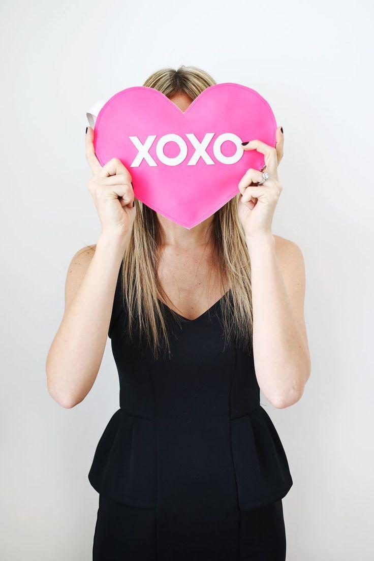 XOXO Heart Clutch (( DIY abeautifulmess.com ))
