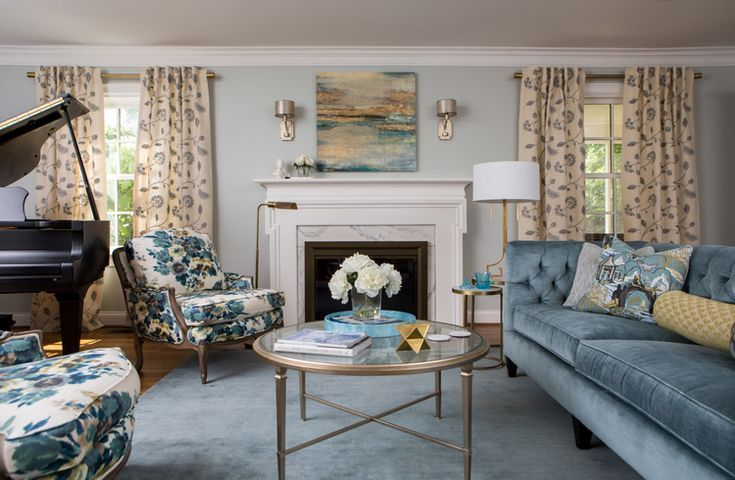 6 Things I Wish Real Estate Photographers Would Do The Decorologist Light Blue Living Room Light Blue Couch Living Room Blue Velvet Sofa Living Room