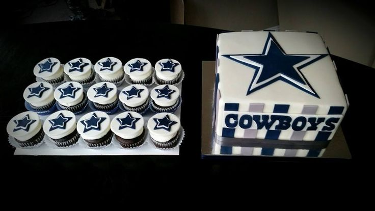 Dallas Cowboys Cake and Cupcakes