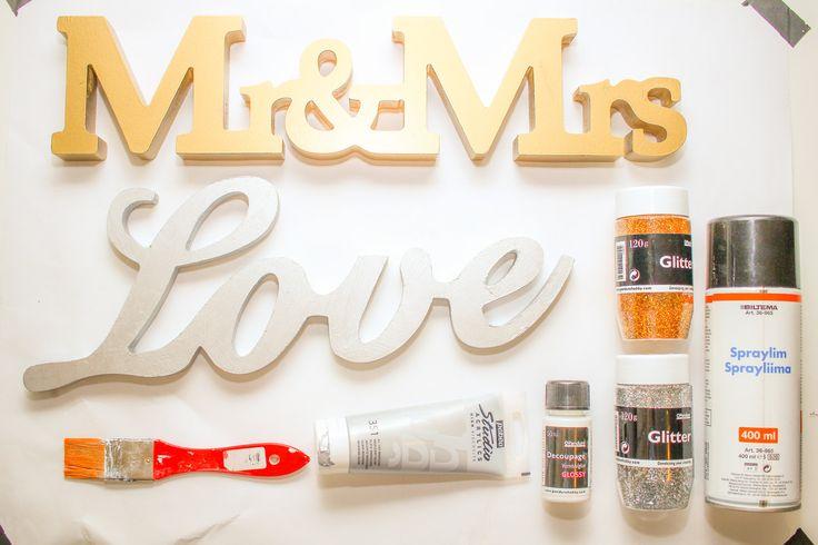 Gjør det selv props til bryllups photobooth. #photobooth #bryllup