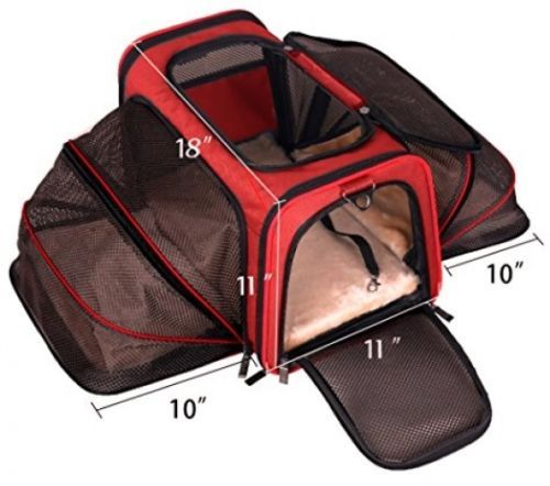 Airline-Approved-Pet-Carrier-Under-Seat-Air-Travel-Cat-Dog-Expandable-Room-Space