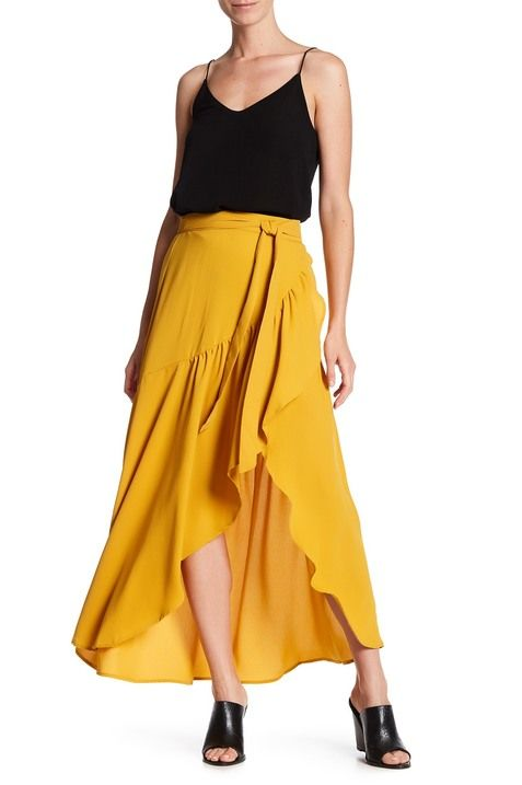73f4ee7841ca Ruffle Wrap Skirt | WANT THIS in 2019 | Skirts, Ruffle skirt, Ruffles
