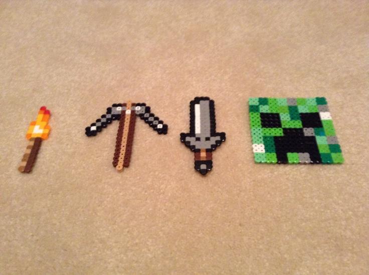 Perler Beads Ideas Minecraft Sword 8135 Dbwi
