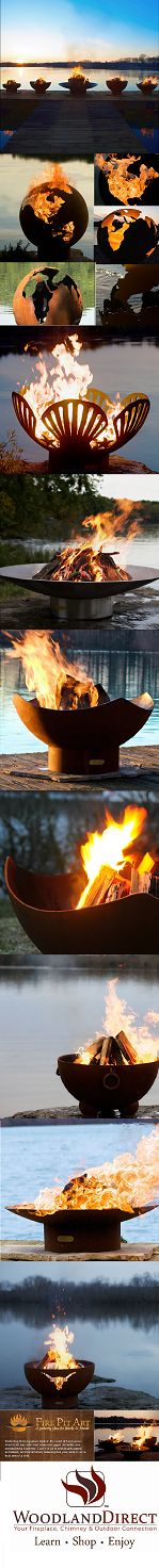 Fire Pit Art from http://www.woodlanddirect.com/Outdoor/Fire-Pits-Gas/?state=Fire_Pit_Art. Leading Artisan Fire Pit Manufacturer