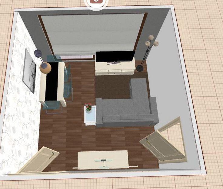 Distribucion salon cuadrado de 16m2 decorar tu casa es - Como distribuir un salon ...