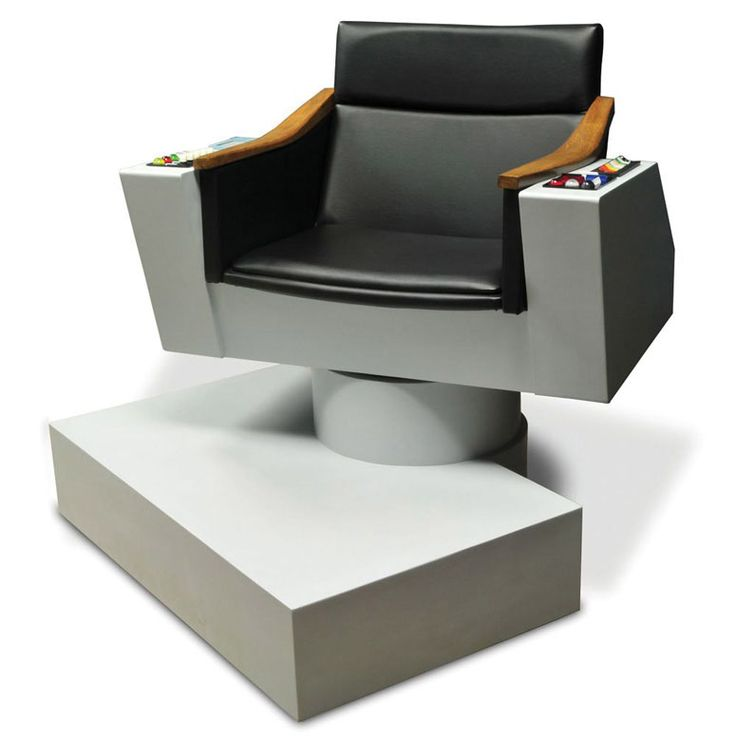 Lifesize Replica of Captain Kirk's Chair from Star Trek for the game room.