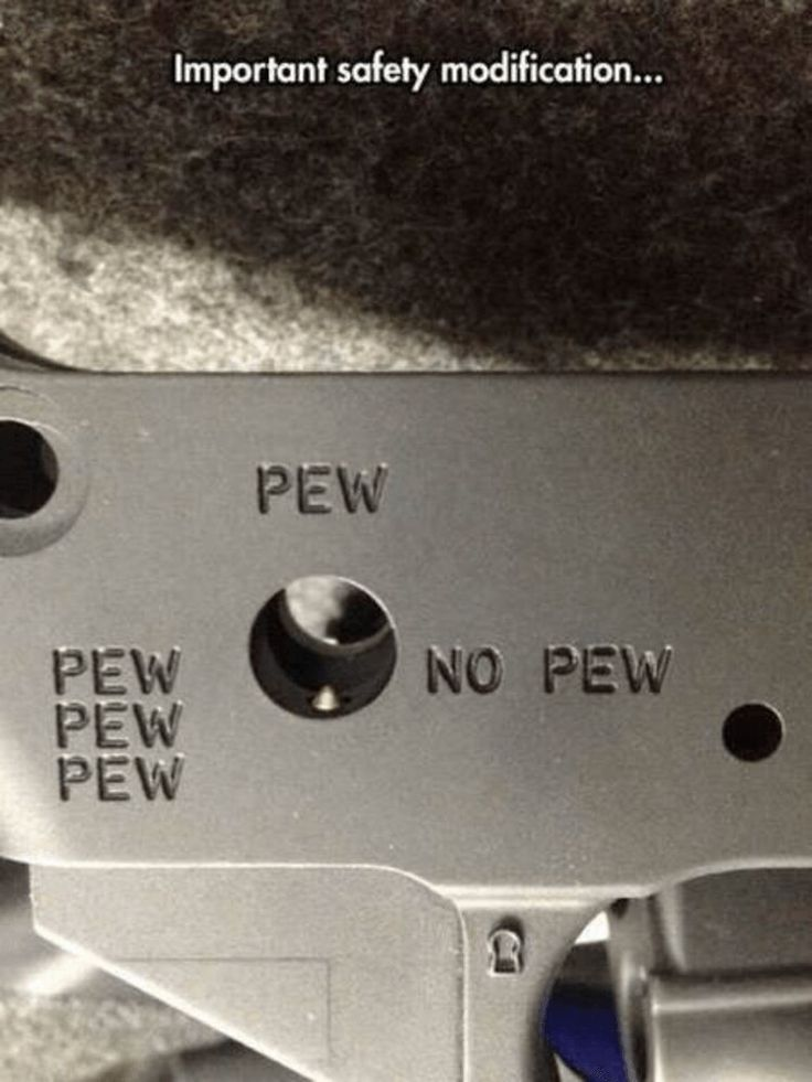 It's definitely PEW PEW PEW !!