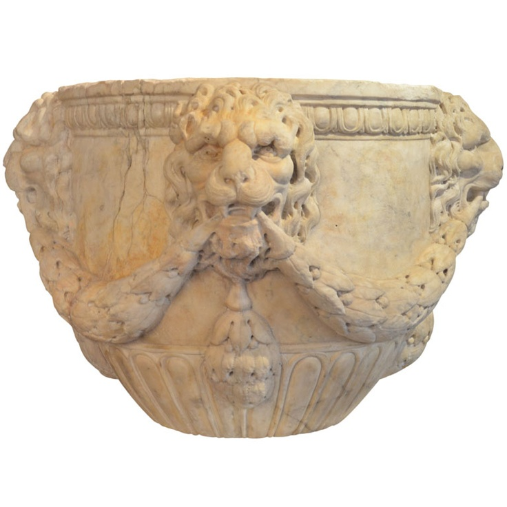 Florentine or Roman Carved Marble Vase, 16th Century