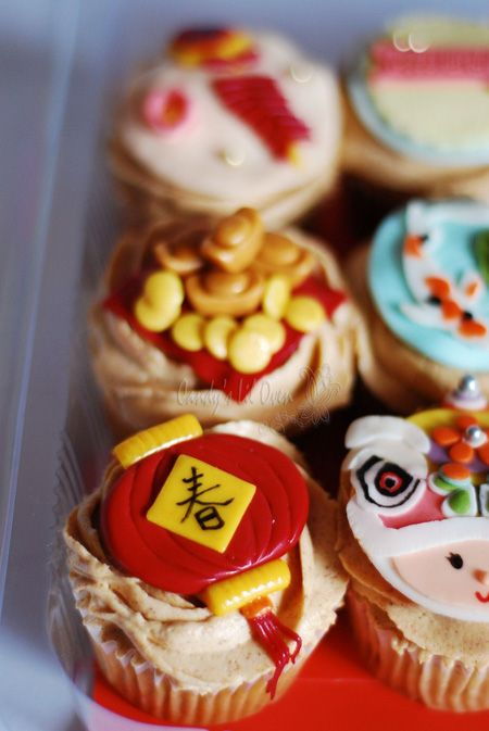 Chinese New Year's cupcakes