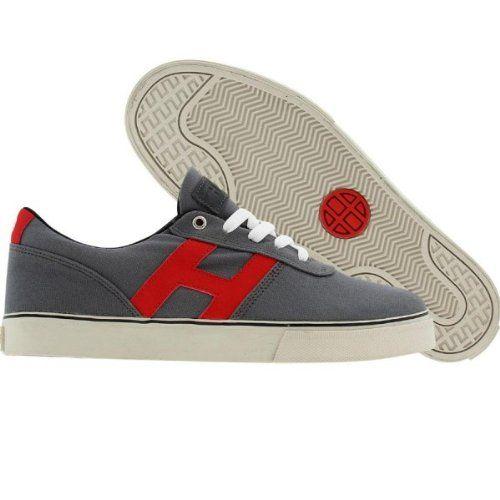 HUF- Skateboard Schuhe- Choice-- Grey/Red, Schuhgrösse:43 - http://on-line-kaufen.de/huf/43-eu-huf-skateboard-schuhe-choice-grey-red
